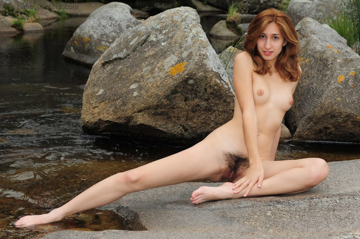 Nude Hairy Outdoor