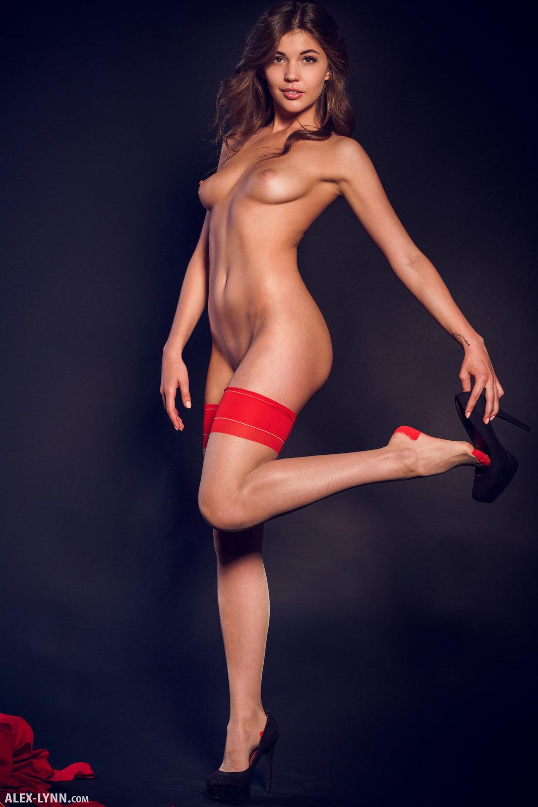 Monika Dee in Red And Black by Alex-Lynn (15 photos ...