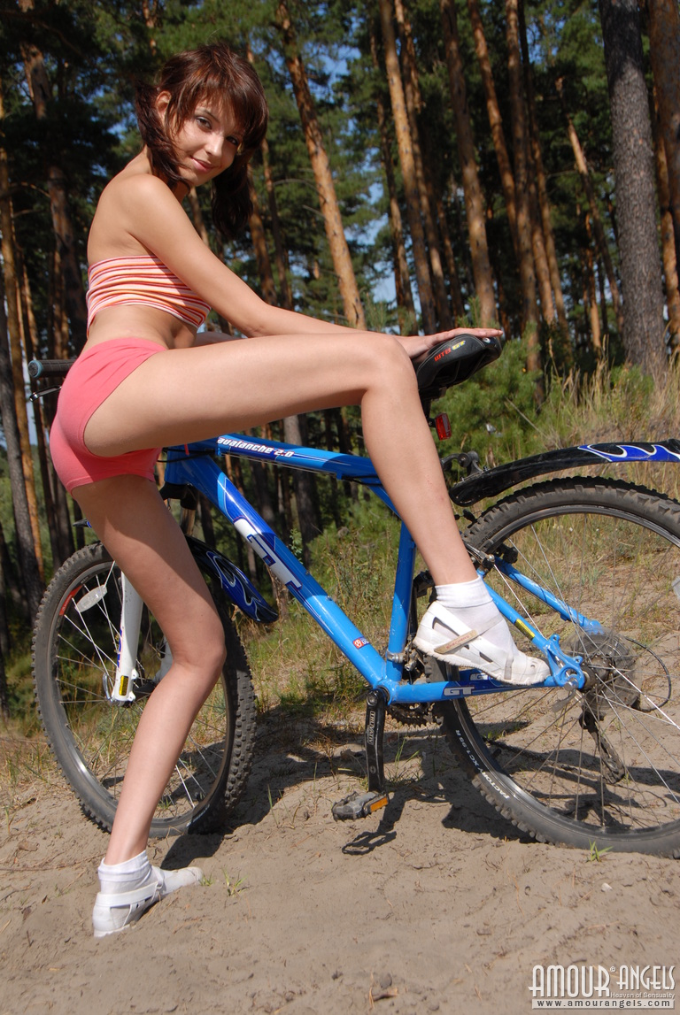 Adorable Teen On Bicycle By Amour Angels 16 Photos
