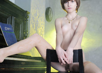 Perky 18 year old Nelli shows off her perfectly slender body (nude photo 8 of 20)