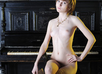Perky 18 year old Nelli shows off her perfectly slender body (nude photo 10 of 20)