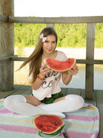 Dominika in Watermelon by Amour Angels (nude photo 2 of 20)