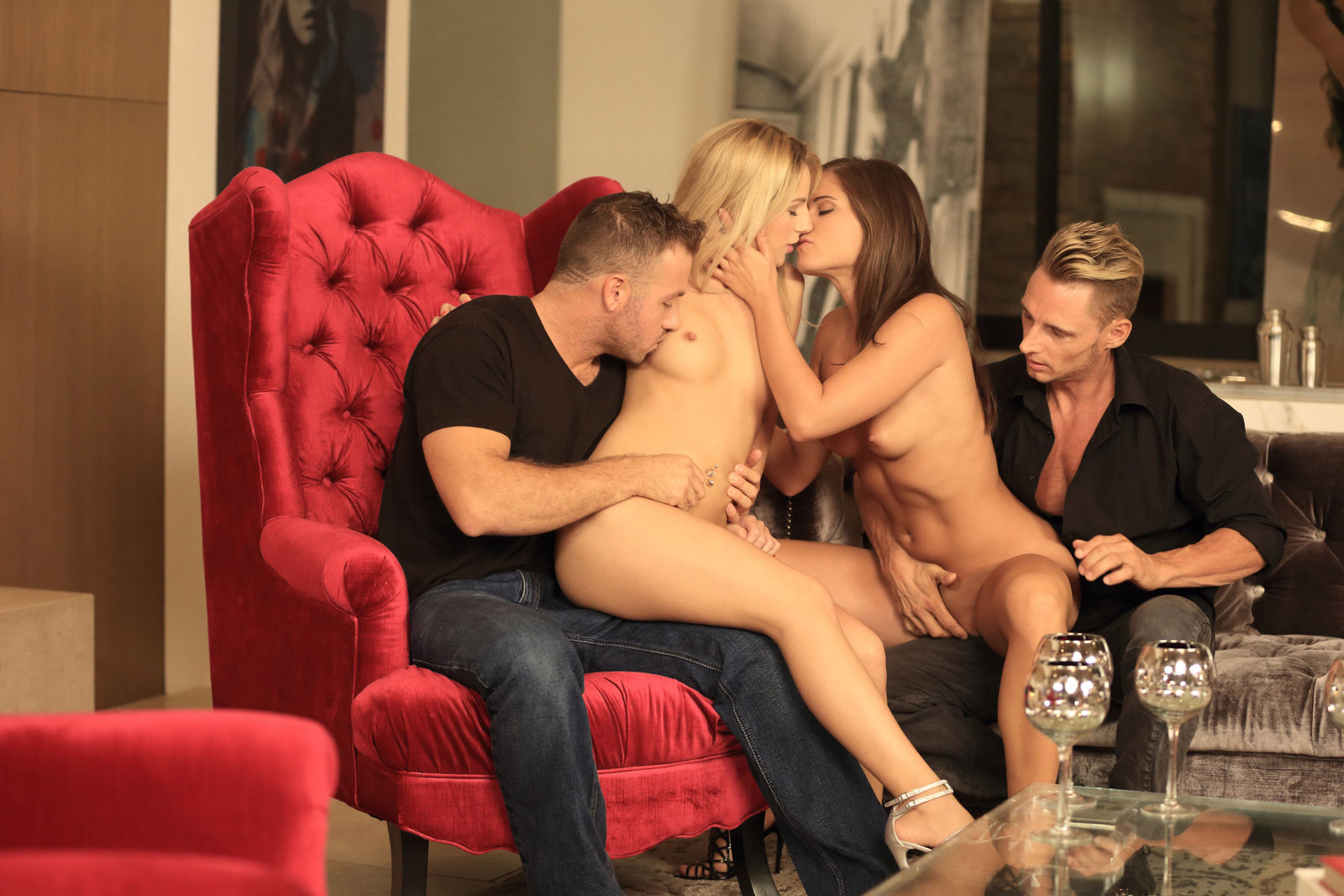 Caprice and Bella Rose in Erotic Party by Colette (16 ...