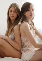 Angelica and Dakota in Best Friends and 1st Time Lesbians by Colette (nude photo 1 of 16)