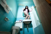 Maya Midnight in Blue Bathroom by Crazy Babe (nude photo 1 of 16)
