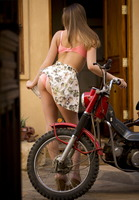 Aubrey Star from Digital Desire posing on scooter (nude photo 8 of 16)