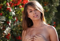 Lovely little Riley Jensen gets naked and touches herself (nude photo 8 of 17)