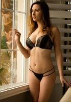 Ashley Adams in Black Panties by Digital Desire (nude photo 1 of 16)