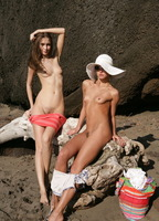 Masha & Mila in Beach Buddies (nude photo 7 of 16)