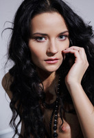 Seductive babe Ardelia A posing in stockings in bedroom (nude photo 13 of 16)