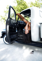 Curvy exotic babe Nadia posing nude in pickup truck (nude photo 16 of 16)