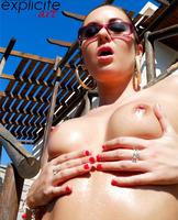 Graziel shows her sweet ass (nude photo 1 of 14)