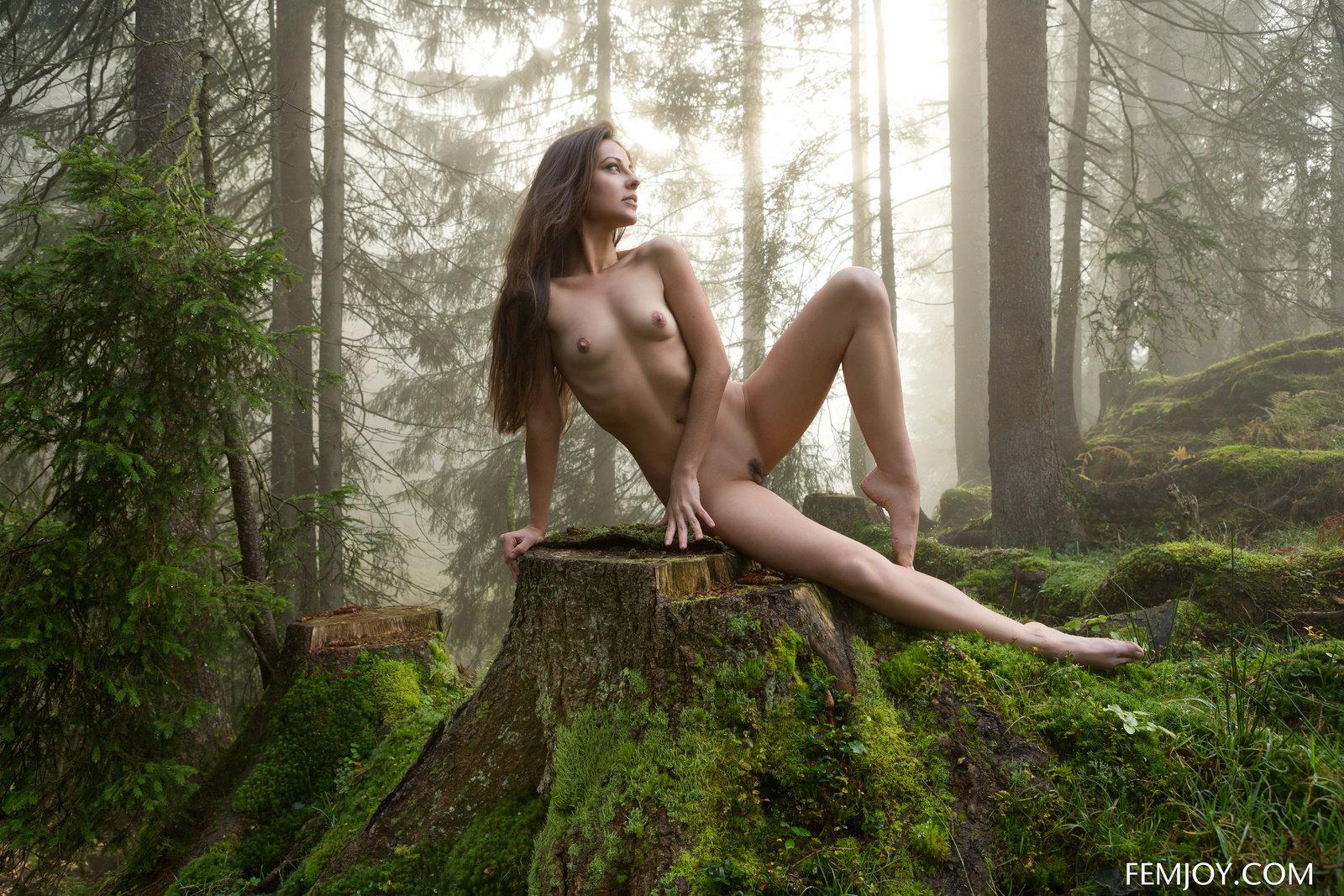 Petite Beauty Lorena Posing Nude On Mystical Foggy Morning By Femjoy 16 Photos  Erotic Beauties-6001