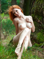 Mia Sollis in Red Beauty (nude photo 9 of 16)