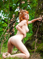 Mia Sollis in Red Beauty (nude photo 12 of 16)