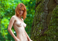 Mia Sollis in Red Beauty (nude photo 14 of 16)