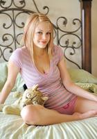 Brea teasing in her panties (nude photo 1 of 15)