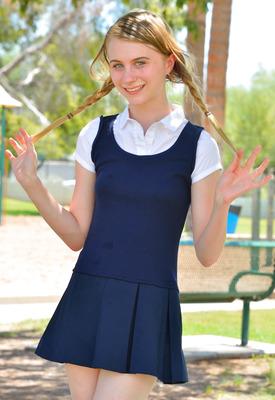 12 Pics: Sharlotte in Schoolgirl Style by FTV Girls