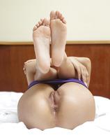 Nikola in Purple Hotpants (nude photo 13 of 18)