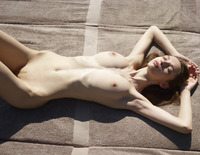 Aya Beshen in Tanning (nude photo 3 of 16)