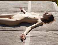 Aya Beshen in Tanning (nude photo 4 of 16)