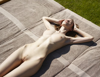Aya Beshen in Tanning (nude photo 6 of 16)