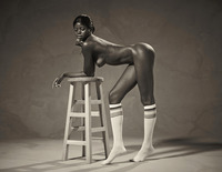 Ebony goddess Simone shows athletic body in classic nudes (nude photo 8 of 16)