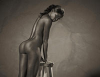 Ebony goddess Simone shows athletic body in classic nudes (nude photo 16 of 16)