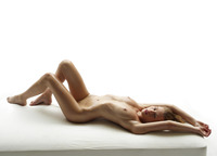 Slender naked model Katia all oiled up in studio nudes (nude photo 5 of 16)