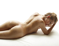 Slender naked model Katia all oiled up in studio nudes (nude photo 13 of 16)