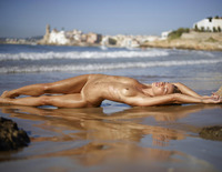 Amber in Sunset on the Beach by Hegre-Art (nude photo 9 of 16)