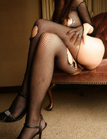 Miho Sonoda in Ripped Fishnets (nude photo 7 of 15)