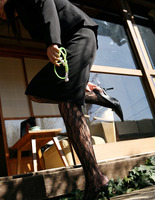 Miho Sonoda in Ripped Fishnets (nude photo 15 of 15)