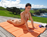 Lexa Stretching Outdoors (nude photo 12 of 16)