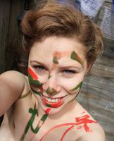 Selfshot Teen Painting (nude photo 5 of 16)