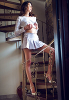 Cristin in Upskirt Stairs by Met-Art X (nude photo 4 of 16)