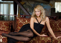 Alissa in black stockings (nude photo 2 of 12)