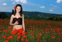 Alma in Smiling Poppies by MPL Studios (nude photo 1 of 16)