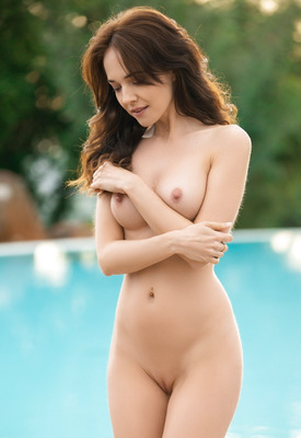 12 Pics & Free Video: Bianka Helen in Poolside Relaxation by Playboy Plus