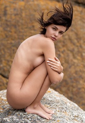 12 Pics & Free Video: Lilit Ariel teasing nude in nature for Playboy Plus