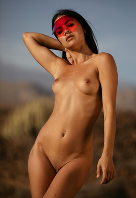 12 Pics & Free Video: Stunning Playboy model Estefania Pahe posing in outdoor nudes