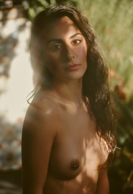 12 Pics & Free Video: Leighla Habib in Hidden location by Playboy Plus