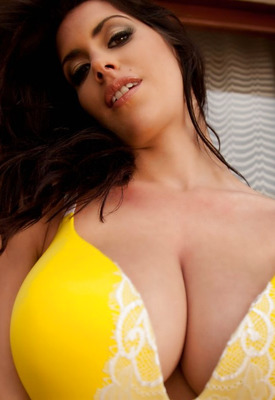 Katie-marie Cork In Yellow Lingerie at Ero Curves