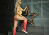 Marbella in Yellow Bodysuit by StasyQ (nude photo 3 of 15)