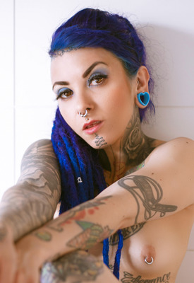 12 Pics: Alt model Naypi in erotic shoot by Luciana Macedo at Suicide Girls