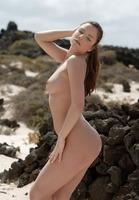 Sexy Brunette on Beach (nude photo 3 of 16)