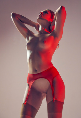 12 Pics: Dolly Haas in Red Echo by Superbe Models