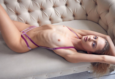 12 Pics: Amelie Lou in Lavender Kiss by Superbe Models
