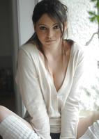 Brionie W. in White (nude photo 1 of 16)