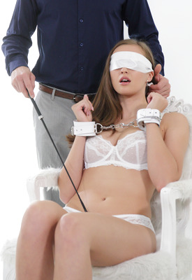 16 Pics & Free Video: Stacy Cruz blindfolded in hardcore erotica from The White Boxxx